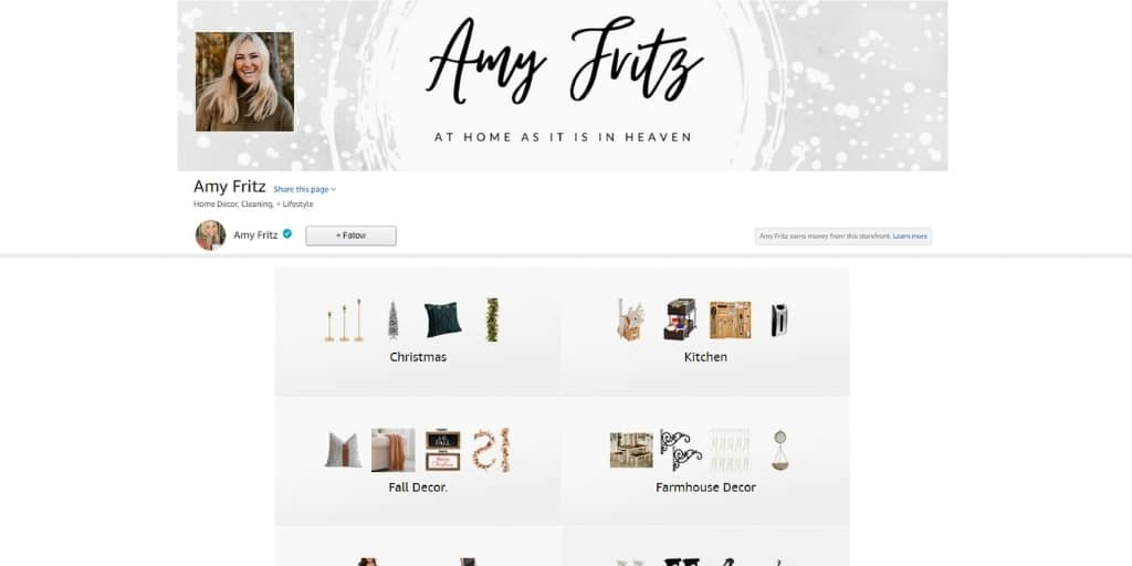 Example Amazon Storefront - Amazon Influencer Examples - Referazon - Find Amazon Influencers Instantly