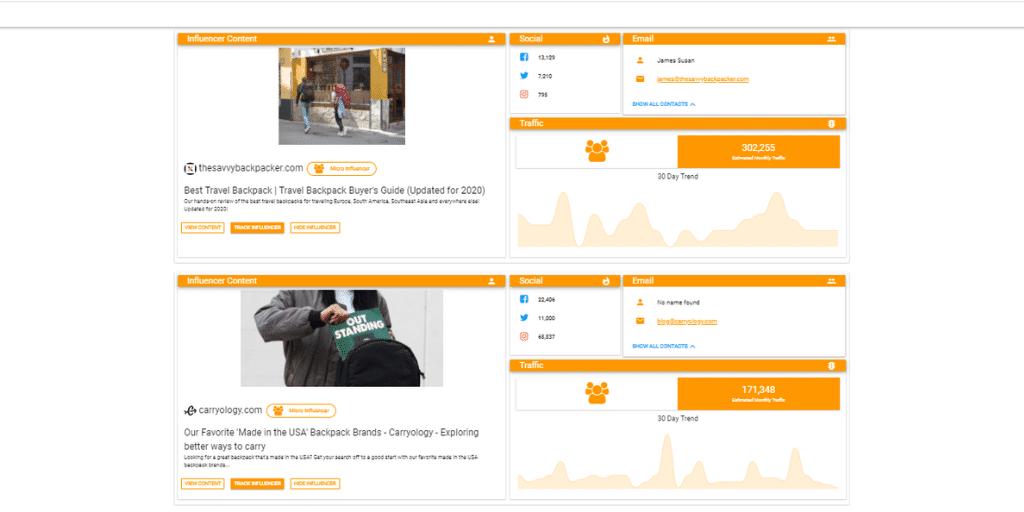 Find Amazon Influencers Screen - Amazon Influencer Examples - Referazon - Find Amazon Influencers Instantly