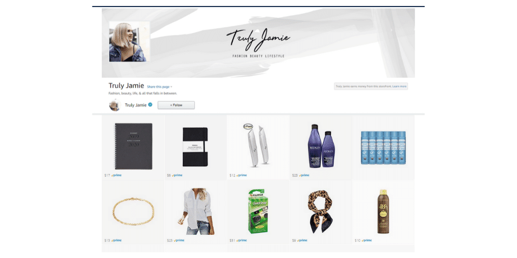 Amazon Influencer Instagram Shop - Amazon Influencer Examples - Referazon - Instantly FInd Amazon Influencers
