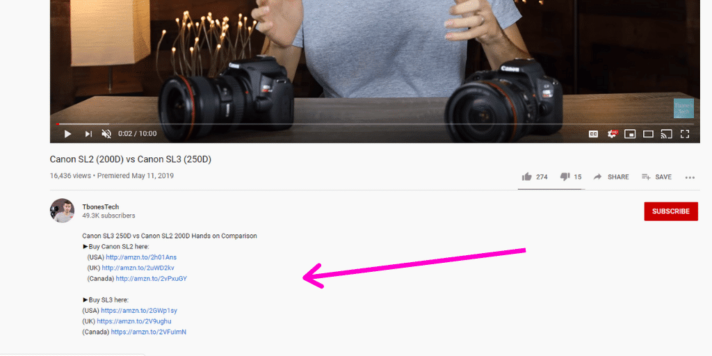 YouTube Amazon Influencer Example 2 - Amazon Influencer Examples - Referazon - Instantly FInd Amazon Influencers
