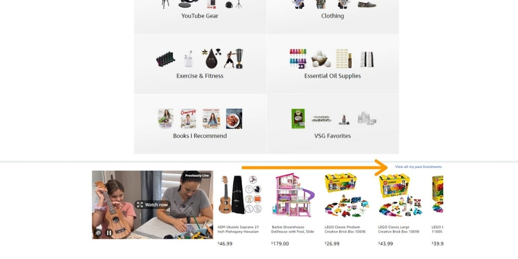 Amazon Live Influencer Shop Example - Amazon Live Influencers Everything You Need To Know - Referazon - Find Amazon Influencers Instantly