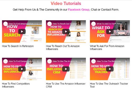 Video Tutorials - Screenshot - Referazon - Find Amazon Influencers